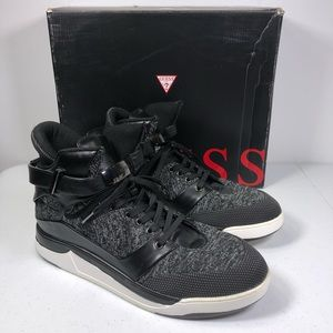Guess Men's Webber Knit High Top Sneaker Shoes